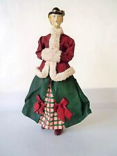 Vintage 1987 CLOTHIQUE POSSIBLE DREAMS LTD. Lady Caroler  Figure 10 3/4""