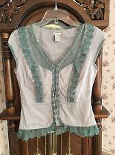 Anthropologie Odille Top Buttons Bustier Top SZ 4