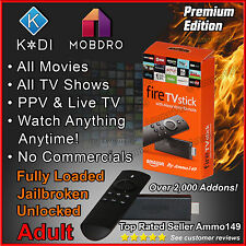 AMAZON FIRE TV STICK * JAILBROKEN * 2nd Gen, K0di 16.1, Adult Fully Loaded!