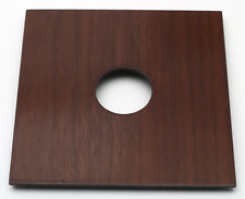 "1 Lens Board 5.2"" x5.2"" for Burke&James 5x7"" -walnut veneer, undrilled/free hole"