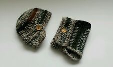 Newborn Baby Boy Camouflage Hat and Diaper cover Crochet Military photo prop