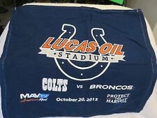 LUCAS OIL STADIUM    COLTS vs BRONCOS October 20, 2013 towel