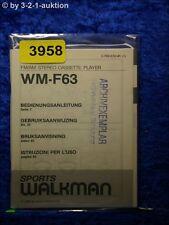 Sony Bedienungsanleitung WM F63 Cassette Player (#3958)