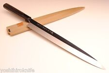 "Honyaki Yanagi Mirror Ebony Handle 11.8"" Japanese Sushi chef knife YOSHIHIRO"