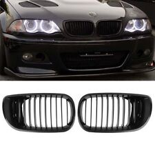 Black Front Hood Kidney Grille for BMW 2002-2005 E46 4D 320i 323i 325i 328i 4 Dr