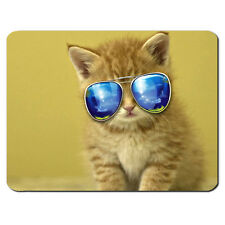 Cat Aviator Sunglasses Cute Funny Kitten Cool PC Computer Mousemat Mouse Mat Pad