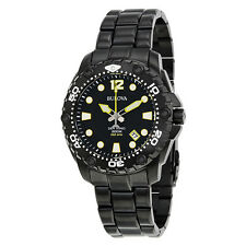 Bulova UHF Sea King Black Dial Mens Sports Watch 98B242