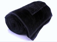 Versace Deep Blue Navy Cotton Large Beach Pool Bath Towel Blanket 71.5 x 40 $475