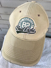 Bud Budweiser Light Distressed Discolored 82 Baseball Cap Hat All American 2006