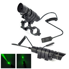 Green Laser Sight Tactical Gun Scope+Remote Pressure Switch+Mount+Picatinny Rail