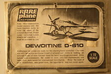 France Dewoitine D.510 1/72 Vacuform Airplane Model Kit