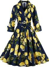 Women's Classic Floral Vintage 1950s Style Retro Formal Party Swing Dress UK 12