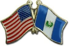 USA - GUATEMALA FRIENDSHIP CROSSED FLAGS LAPEL PIN - NEW - COUNTRY PIN