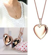 Heart Shaped  Friend Photo Picture Frame Locket Pendant for Necklace Fashion