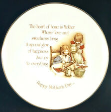 Holly Hobbie Collectors Edition Plate Vintage Happy Mothers Day Dish Decor