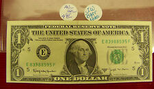 1963 B $1 United States Note #E 83988595 F - Au Uncirculated