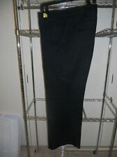 St. John Size 16 Black Pants with Gold Button Accents