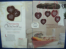TAKES THE BISCUIT GORGEOUS GINGERBREAD CHRISTMAS DECORATIONS CROSS STITCH CHART