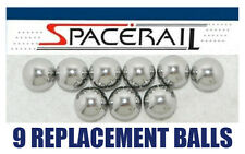 Nine (9) SPACERAIL Chrome Steel Replacement Balls Made in USA