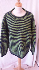chemical hippy stripy chunky baggy Jumper wool  chest 44