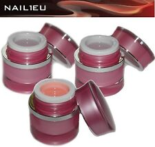 BEAUTYLINE Nagelgel Set NATURELL 3x15ml Make Up Aufbaugel Haftgel Versiegelungel