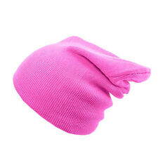 Mens Women Beanie Hat Knitted Wooly Oversized Slouch Hat Cap Winter Ski Hip-hop