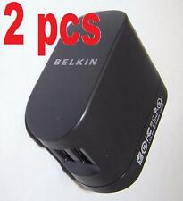 Lot 2 Belkin Dual USB Rotating Wall AC Charger for iPod iPhone Smartphone F8Z240