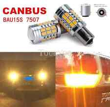 2x BAU15S PY21W Amber 36SMD LED Error Free Bulbs Turn Signal Lights 1156PY 7507