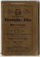 Payne & Heinz: Taschen-Eisenbahnatlas von Mitteleuropa, 1862