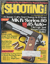 Magazine SHOOTING TIMES December 1983 !!! SMITH & WESSON Model 1500 RIFLE !!!
