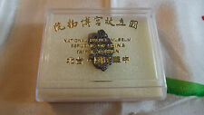 New Vtg Taiwan China National Palace Museum Souvenir Pin Badge with Case