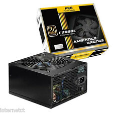 EZCOOL 650W 80+ BRONZE AMBIANCE ATX MOLEX SATA POWER SUPPLY UNIT - 120MM FAN