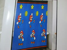 New Super Mario Fabric Shower Curtain 70x72 - Blue, Red & Yellow NIP
