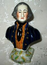 """An Outstanding Mid 1800's Victorian Staffordshire """"George Washington"""" Bust"""