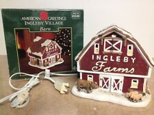 Christmas Village Barn House Ingleby Village American Greetings Lighted