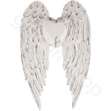 Vintage Wooden White Angel Wings Rustic Shabby Chic Wall Decoration Home Gift