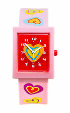 Tatiri Watch Baby Pink Analogue Hearts Time Wrist Girls Boys Fashion Children