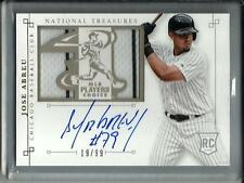 Jose Abreu 2014 National Treasures Autograph Game Used Jersey #19/99