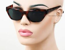 Womens Cat Eye Glass Lens Sunglasses New Vintage Deadstock Tortoise Brown 255