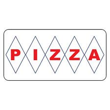 Pizza Red Retro Vintage Style Metal Sign - 8 In X 12 In With Holes