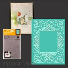 Cuttlebug embossing folders - CALLIGRAPHY FRAME 5 x 7 folder frames,Anna Griffin