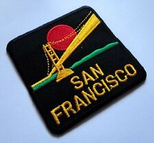 San Francisco Golden Gate Black Embroidered Iron on Patch Free Shipping