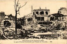 CPA PARIS Evenements de la Commune La Gare d'Auteuil bombardée (305522)
