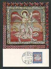 SCHWEIZ MK 1966 840 PRO PATRIA MAXIMUMKARTE CARTE MAXIMUM CARD MC CM d3182