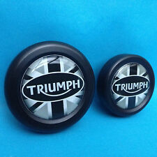 TRIUMPH SPEED TRIPLE SPRINT 1050 955 AXLE WHEEL SPINDLE PLUGS BUNGS UNION JACK