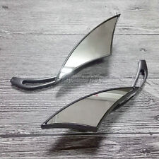 Black Blade Rearview Mirrors For Harley Davidson Dyna Softail Sportster Touring
