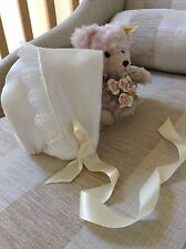 BONNET HAT CHRISTENING GOWN BONNET / HAT / BESPOKE / HAND MADE IVORY WHITE