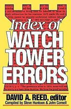 Index of Watch Tower Errors by David A. Reed (1990, Paperback)
