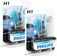 2x PHILIPS Diamond Vision 5000k Headlight Bulb H1 55W - Authentic Germany