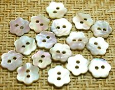 36 Mother of Pearl Real Shell Flower  Buttons(11mm)~Blouse/Dress/Dolls/Baby